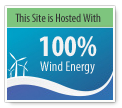 This site is hosted with 100 percent wind energy